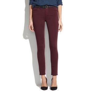 Madewell Skinny Sateen Jeans in Deep Plum